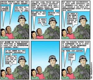 Stop Urban Shield Comic