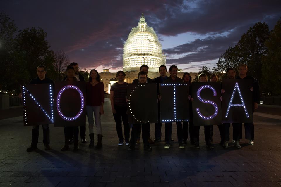No CISA Protest at US Capitol