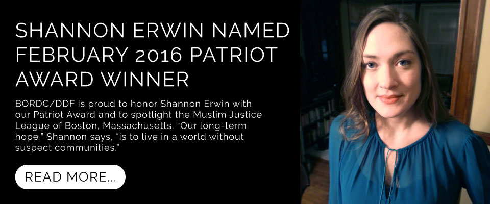 Shannon Erwin Receives February 2016 Patriot Award