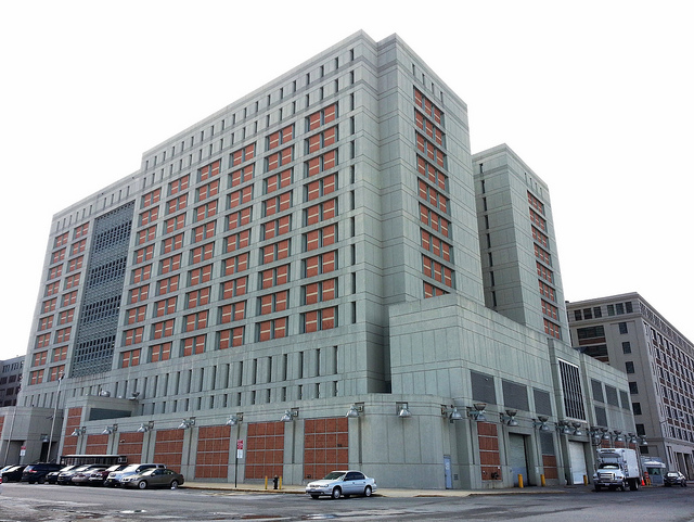 The Metropolitan Detention Center in Brooklyn