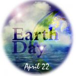 """artwork of the earth with """"Earth Day"""""""