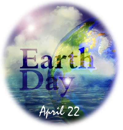 "artwork of the earth with ""Earth Day"""