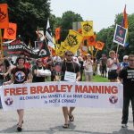 a protest march in support of Private Manning