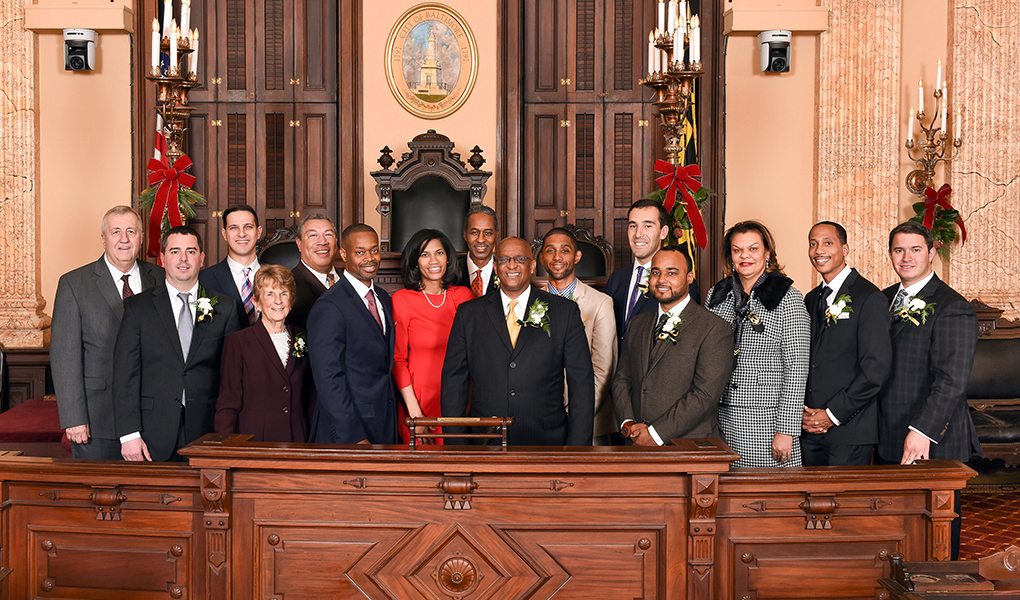 members of baltimore city council pose for group picture