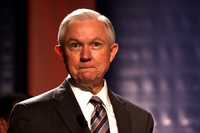 Jeff Sessions with a wierd smile