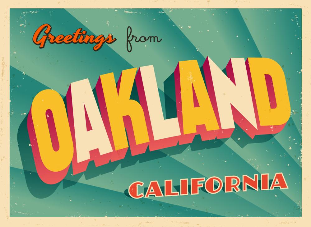 Vintage Touristic Greeting Card - Oakland, California