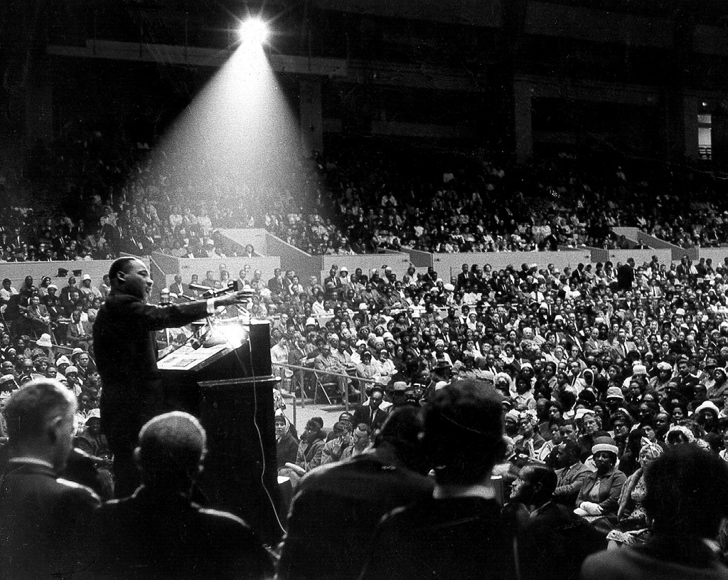 Martin Luther King Rally in San Francisco, 1964